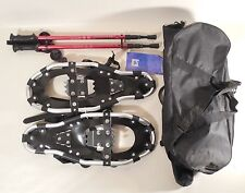 Pair of Alps S21 Snowshoes Snow Shoes & Antishock Trekking Poles w/ Bags