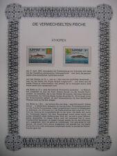 Irrtümer auf Briefmarken / Ethiopia Äthiopien Mi 1206 + 1207 : Süßwasserfische