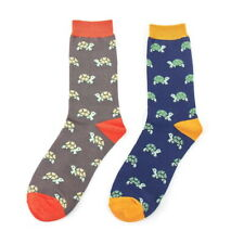 Turtle Socks Mens Boys Novelty Gift Bamboo Tortoise Sock Sea Turtles Two Pairs