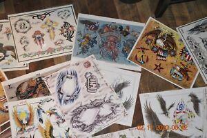 26 Military Tattoo Flash Sheets. Artists: Vaughn, Modafferi, Iovino, Royal Flash