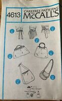 McCall's sewing pattern 4613 accessories bag & belt vtg 1975 uncut