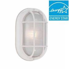 Hampton Bay White Outdoor LED Bulkhead Wall Lantern Light Fixture Case of 6