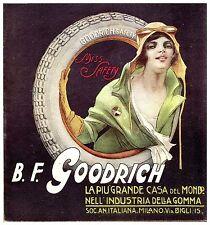 PUBBLICITA' 1920  B.F.GOODRICH GOMME AUTO MISS SAFETY DONNA SICUREZZA CODOGNATO