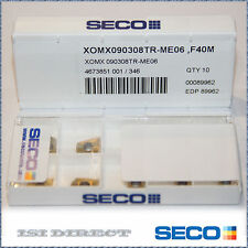 XOMX 090308TR ME06 F40M SECO ** 10 INSERTS *** FACTORY PACK ***