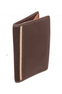 Coach Brown Leather Heritage Web Passport Holder FREE SHIPPING!