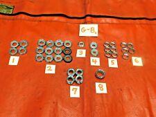 Triumph, MG, Austin Healey, Dashboard Chrome Switch Nuts, #2, Original, !!