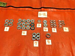 Triumph, MG, Austin Healey, Dashboard Chrome Switch Nuts, #2, Original, !!