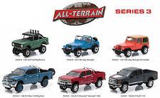 GREENLIGHT ALL TERRAIN SERIES 3, SET OF 6 CARS 1/64 BY GREENLIGHT 35030 SET