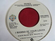 PRINCE I WANNA BE YOUR LOVER/MY LOVE IS FOREVER DEBUT SINGLE 1978 WARNER BROS.