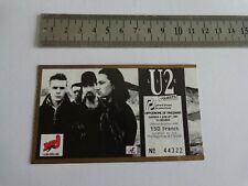 U2 - BILLET DE CONCERT  - TICKET ORIGINAL COLLECTOR -  RARE -  PARIS 1987