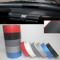 DIY - Adhesive 4D Texture Carbon Fiber Vinyl Tape Car Phone Wrap Sticker Film AB