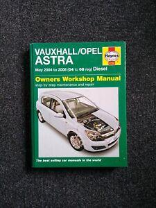 VAUXHALL / OPEL ASTRA Mk5 1.3 1.7 1.9 DIESEL (2004-08) OWNERS WORKSHOP MANUAL