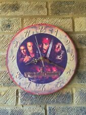 """""""The Pirates of the Caribbean""""  Wooden  Wall Clock (285mm  Diameter)."""