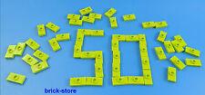 LEGO®  1x2 hellgrüne / Fliesen mit Noppen / 50 Stück