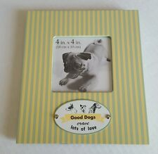 Picture Frame Good Dogs Crave Lots of Love 4 x 4