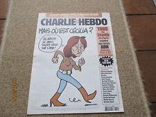 JOURNAL BD CHARLIE HEBDO 799 ou est cecilia sarkozy charb 2007