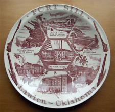 Vernon Kilns collector plt~Fort Sill~Lawton Oklahoma~artist signed~Ultra maroon