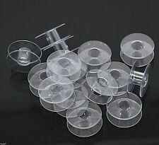 10 leere Spulen Garnspulen Spule Kunststoff klar - für Garn Schmuckdraht Gummi *