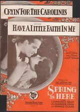 SPRING IS HERE two film songs HARRY WARREN First National VITAPHONE 1930