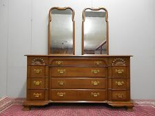 """Pennsylvania House Cherry Block Front Double Dresser Chest Champagne Finish 65""""w"""