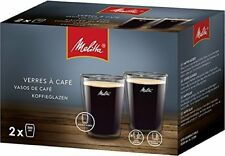 2 X GENUINE MELITTA COFFEE GLASSES DOUBLE WALLED  200ML CAPACITY EACH   6761117