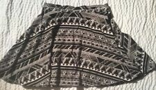PINK by Victoria's Secret Black and Ivory Tribal Skirt Size XS - Mint Condition