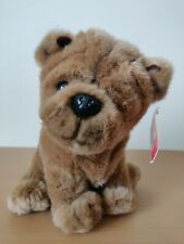 "Fao Schwarz Plush Bull Dog Puppy Brown 10"" Nwt"