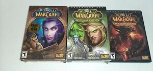 Lot Of 3 World Of Warcraft PC Games Original, The Burning Crusade And Cataclysm