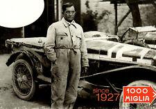 """Mille Miglia 2008 POSTAL (con """"OM"""" coche ganador de la carrera de 1st en 1927)"""