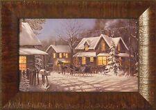 PINE RIDGE TRAIL by Gene Stocks 11x15 FRAMED PRINT Horse Buggy Winter Scene