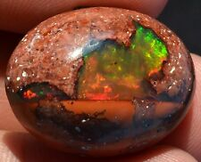 28.5 ct MEXICAN 100% NATURAL BEAUTY MATRIX INTENSE FIRE OPAL GEM 4 JEWELRY