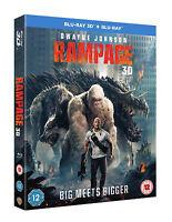 RAMPAGE [Blu-ray 3D + 2D] (2018) Dwyane Rock Johnson Epic Monster Movie