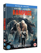 RAMPAGE [Blu-ray 3D + 2D] (2018) Dwyane Rock Johnson Epic Monster Movie