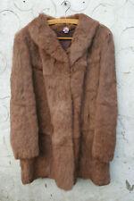 Coney Fur Coat Light Brown in Colour.