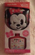Minnie Mouse Wash Buddy Strawberry Body Wash & Mitt Girls Bath New Nib