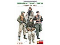 Miniart 1:35 scale model kit figures - German Tank Crew Karkhov 1943 MIN35280
