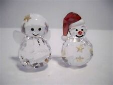 SWAROVSKI COMBO ROCKING SNOWMAN & ROCKING ANGEL RETIRED 5103227 / 5103228 BNIB