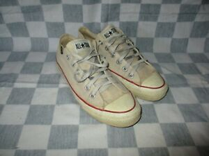 CONVERSE ALL-STAR low vintage canvas blanc 80'S made in USA 7,5 7 1/2 41