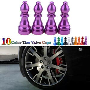 Car Tire Tyre Purple Wheel Air Port Dust Cover Trim Ventil Valve Stem Caps Alloy