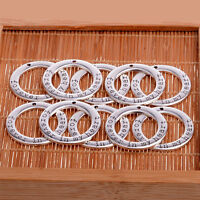 10X Silver Forever In My Heart Beads Charms Jewellery Making Crafts Pendants New