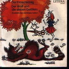 """7"""" Pièce radiophonique Frères Les Geens Roi grenouille/Le Loup und die VEB"""