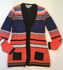 Clements Ribeiro Size S Striped Merino Wool Cardigan