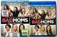 BAD MOMS BLU RAY DVD 2 DISC SET + SLIPCOVER SLEEVE FREE WORLD WIDE SHIPPING
