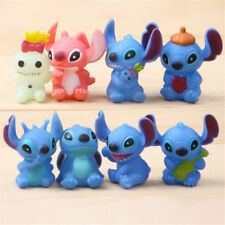 8pcs Disney Lilo & Stitch Resin Figures Display Toy Kids Collectible Gift ###