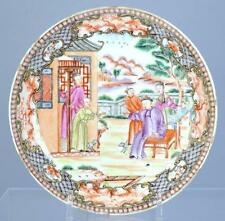 18th C. Cinese Mandarin Enameled Porcelain Plate.