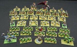 Warhammer WHFB Painted Metal Figurines, Wyvern chariots riders spearmen & More