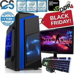 SALE i3 9100F i5 9400F i7 9700 RGB Gaming PC 2TB+480GB SSD 16GB GTX1660 Computer