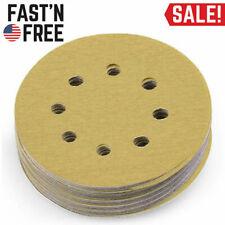 100PCS 220 Grit 5'' Sanding Disc Dustless Hook and Loop Sander Paper Pad 5 Inch