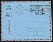 Canada 1966 A27 10¢ Centennial Air Letter Sheet used, VF (dotted fold line)