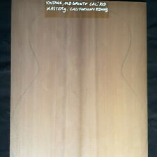 VINTAGE OLD GROWTH CAL REDWOOD,SOUNDBOARD TOP. GUITAR OM.VERY STIFF. HIGH GRADE.